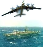 Бомбардировщики РФ испугали натовский авианосец нестандартными маневрами