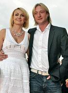 Свадьба Евгения Плющенко и Яны Рудковской пела и плясала на Рублевке