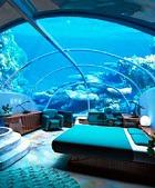 Подводный отель открылся  на острове Посейдон