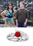 Стала известна стоимость кольца супруги Марка Цукерберга