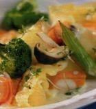 Запеканка из лапши с овощами