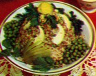 Салат рисовый с рыбным фаршем
