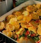 Запеканка из картофеля с сардельками
