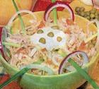 Салат из кальмаров со свежей капустой