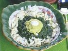 Салат из авокадо с яйцами