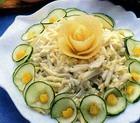 Салат из витлуфа с огурцом и яйцами