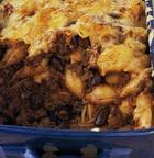 Запеканка с пастой, фасолью и сыром