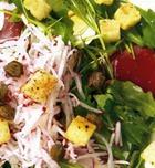 Салат из пармской ветчины с руколлой