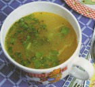 Суп овощной с яйцом и зеленью