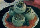 Лук репчатый фаршированный печенью с мясом