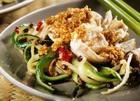 Салат из свежих огурцов с куриным мясом