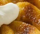 Печеные яблоки с ванильным кремом