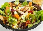 Куриный салат с яблоками и апельсинами