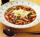 Макаронный суп с овощами