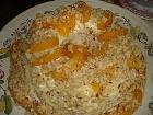 Песочный торт с персиками