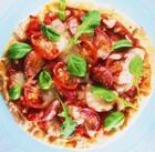 Пицца с фаршированными помидорами