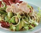 Рыбный салат с соусом