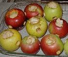 Яблоки с творогом