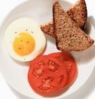 Гренки из ржаного хлеба с яйцом