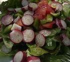 Печеночный салат с редиской