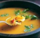 Молочно-овощной суп с зеленью