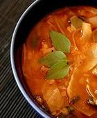 Овощной суп со свекольными листьями