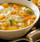 Капустный постный суп с сушеными грибами
