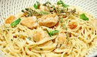 Спагетти под сливочным соусом
