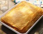 Пирог слоеный с минтаем