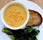 Суп гороховый с сыром