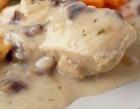 Рыбный соус грибами и оливками