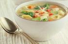 Овощной суп с сырными гноччи
