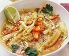 Овощной суп с омлетом