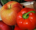 Яблоки с перцем