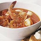 Сытный суп с морепродуктами