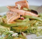 Салат с жареной рыбой