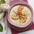 Суп-пюре из консервированных крабов