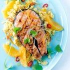 Жареный лосось с цитрусом