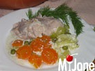 Курица с овощами в сметане