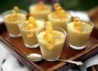 Фруктовый десерт с абрикосами и манго