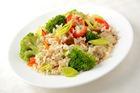 Жареный рис Индика Brown с овощами и грибами