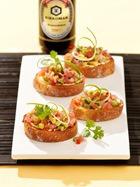 Брушетта с тартаром из тунца и авокадо