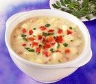 Суп-пюре из фасоли с орехами