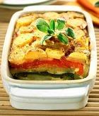 Картофель, запеченный с помидорами