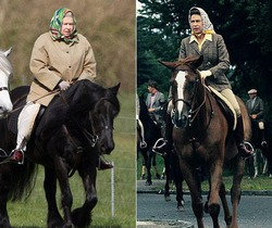 88 летняя Елизавета II продолжает ездить верхом