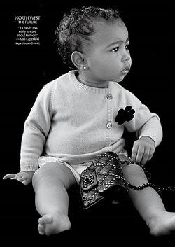 Дочь Ким Кардашьян стала моделью