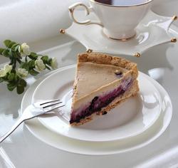 Кофейно-черничный пирог