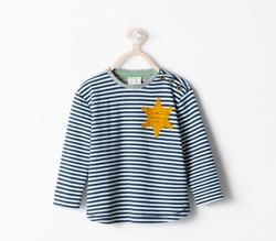 Футболку Zara для детей сравнили с робой для еврейских заключённых и сняли с производства