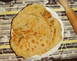 Индийские лепешки с картофелем