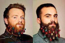 В Европе вошли в моду елочные игрушки для бороды